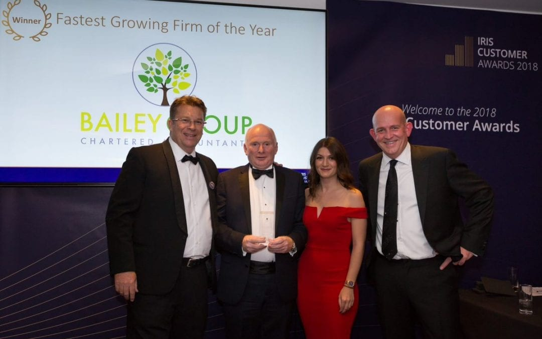 The Bailey Group Chartered Accountants Celebrate Success at the IRIS Customers Awards Ceremony!