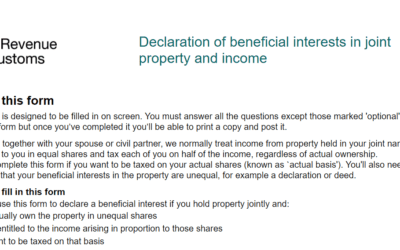Form 17 for Landlords – adjusting the split of property income between couples