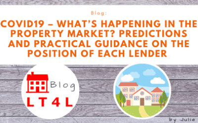 Covid-19 – What's happening in the Property Market? Predictions and Practical Guidance on the position of each Lender including how their criteria has changed and who is willing to do AVM/Driveby valuations.